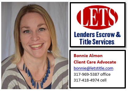 We are pleased to announce the addition of Bonnie Almon to the LETS Title Team in Mooresville!
